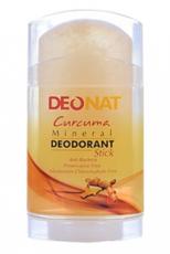 Дезодорант-Кристалл с КУРКУМОЙ, желтый стик,  вывинчивающийся (twist-up), 100 гр.