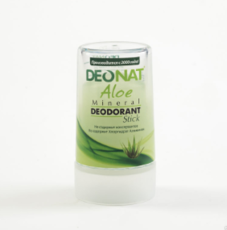 Дезодорант-Кристалл с натуральным  соком АЛОЭ ,  стик зеленый,    40 гр.
