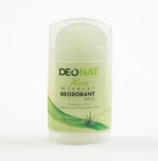 Дезодорант-Кристалл с натуральным  соком  АЛОЭ, стик плоский, вывинчивающийся (twist-up), 100 гр.
