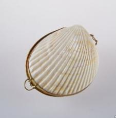 Кристалл в подарочных натуральных тихоокеанских раковинах  и пакете, КОКЛЕС,  55 гр.
