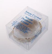 Кристалл в бамбуковой корзинке и пластиковой коробке 120 гр.