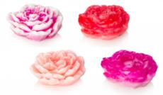 Мыло ручной работы/цветок 3D ПИОН. 90 гр