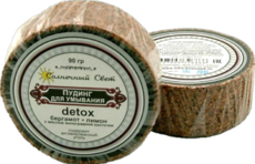 Пудинг Detox бергамот + лимон (с активированным углем). 90 гр