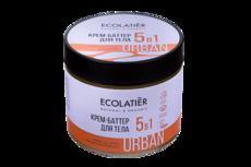 ECOLATIER URBAN  Крем-баттер д/тела 5 В 1 какао. ши. кокос. макадамия. бабассу. 380мл