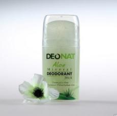 Дезодорант-Кристалл с натуральным соком АЛОЭ, стик овальный, выдвигающийся  (push-up), 100 гр.